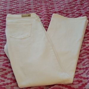 AG The Angel Boot Cut White Jeans